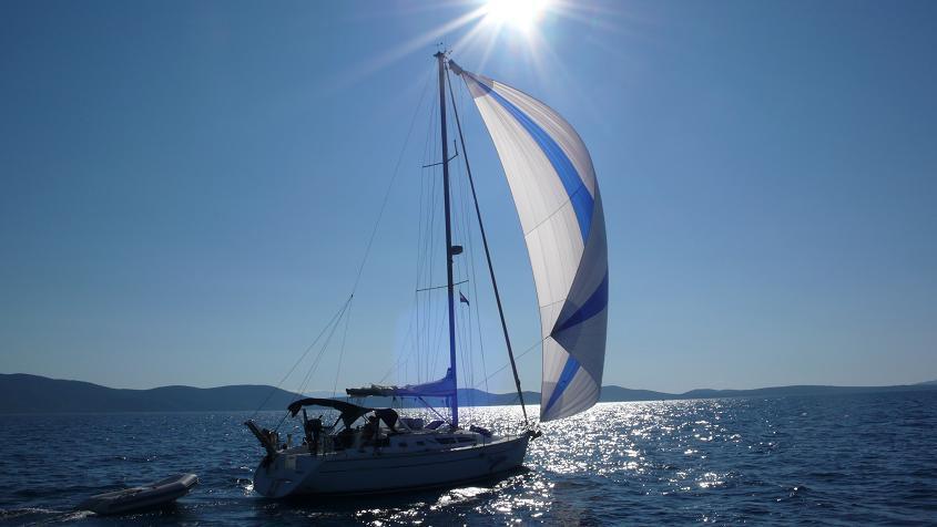 Barca a vela in INVERNO
